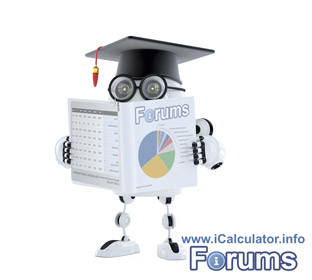 Discussion forums for support and feedback in regard to iCalculators online tax, finance and other supported calculators.