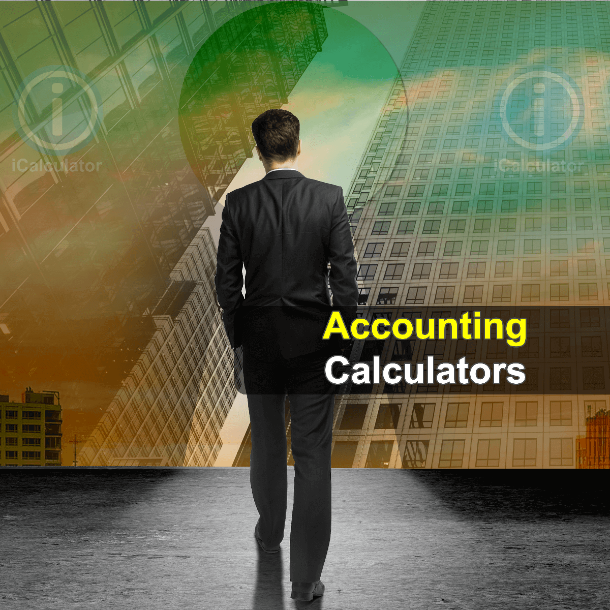 Accounting Calculators. This image shows a busienss owner review best accounting practice to formulate the next financial years business plan using financial kpi based on his informed decisions made using the information provided on the accounting calculators provided by iCalculator.