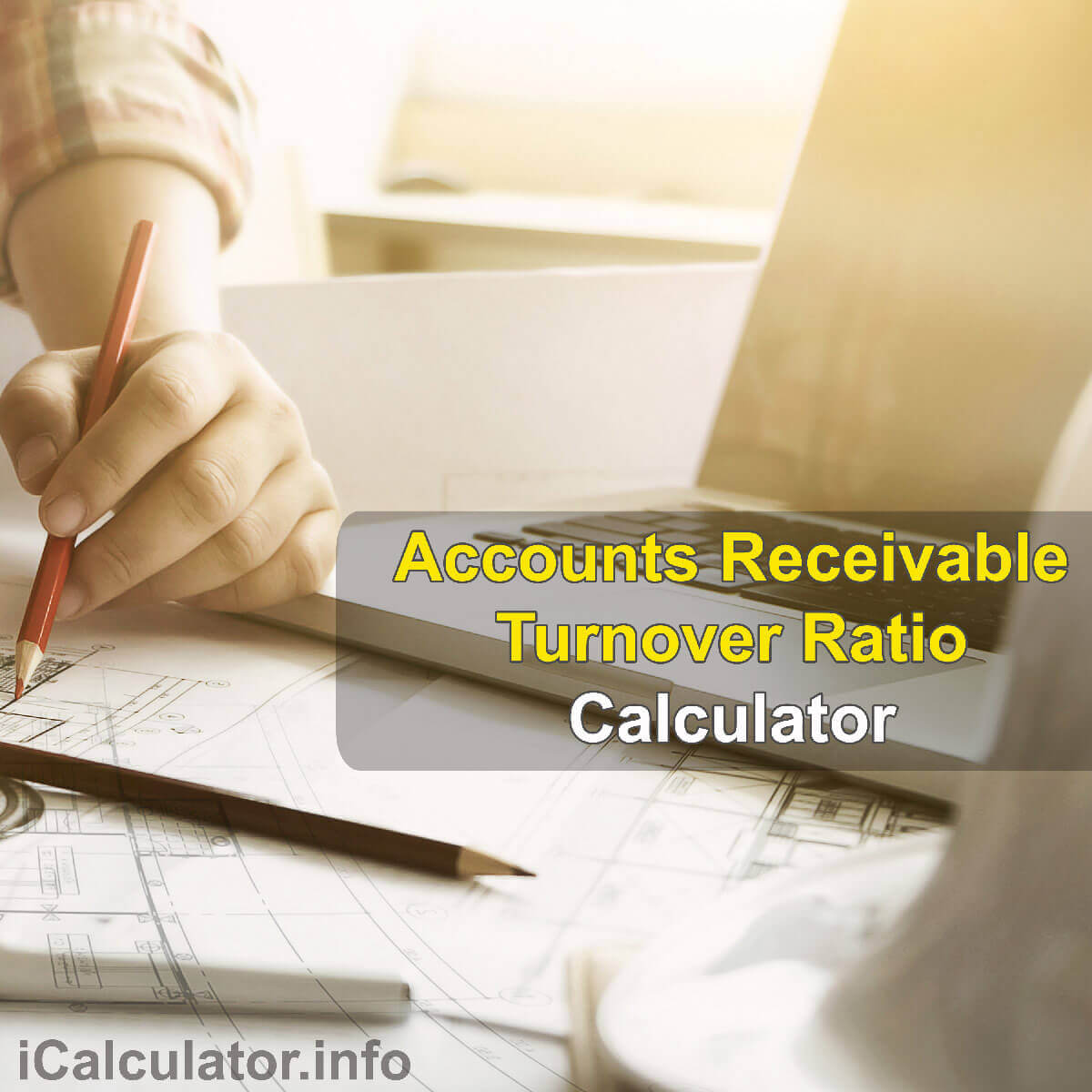 Accounts Receivables Turnover Ratio Calculator. This image provides details of how to calculate the Accounts Receivables Turnover Ratio using a calculator and notepad. By using the Accounts Receivables Turnover Ratio formula, the ARTR Calculator provides a true calculation of the quantify of the effectiveness of your company's ability to collect its credits that are owed by its clients