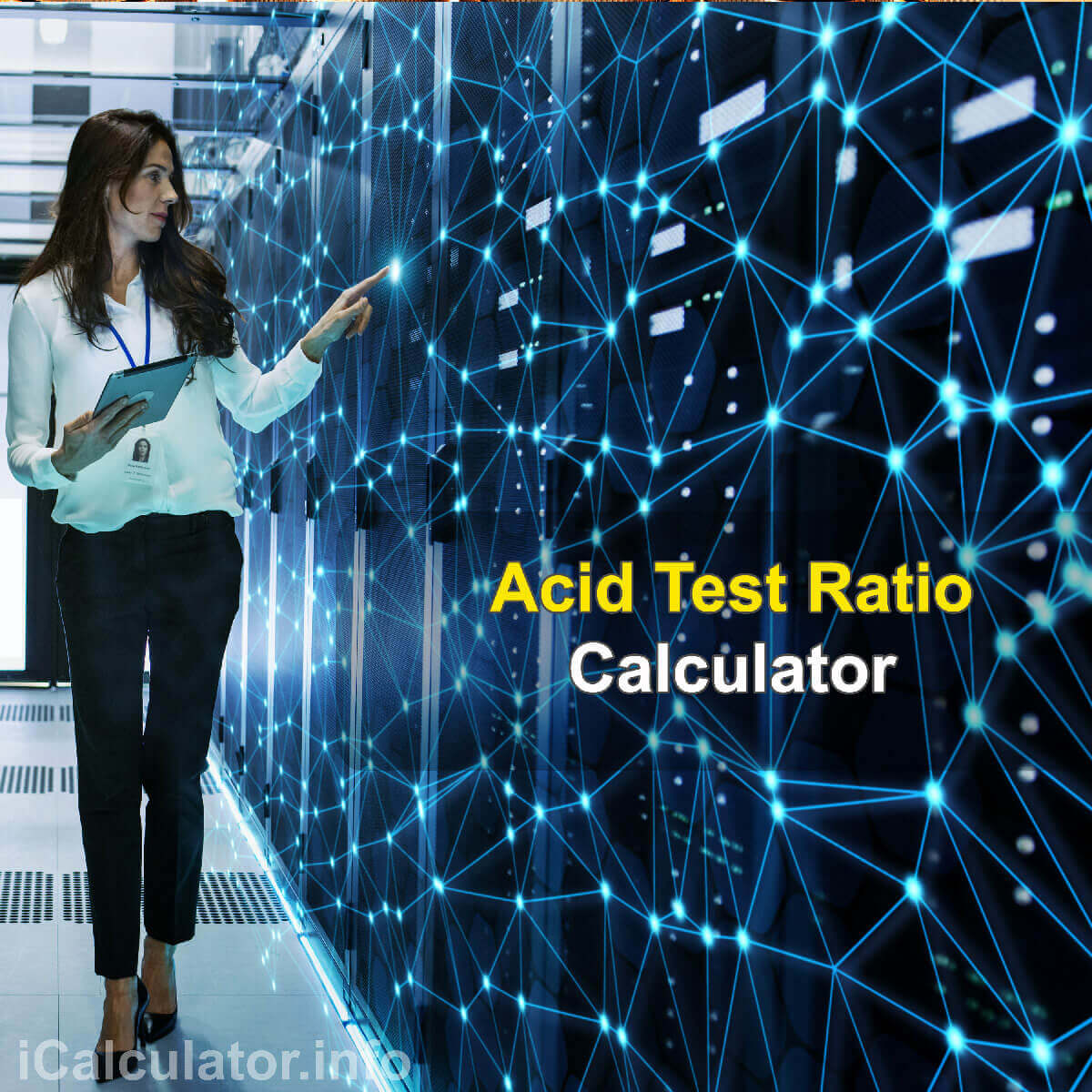 Acid Test Ratio Calculator. This image provides details of how to calculate the Acid Test Ratio using a calculator and notepad. By using the rule of Acid Test Ratio formula, the Acid Test Ratio Calculator provides a true calculation of how viable a company is for investment and financial stability based on cash flows.