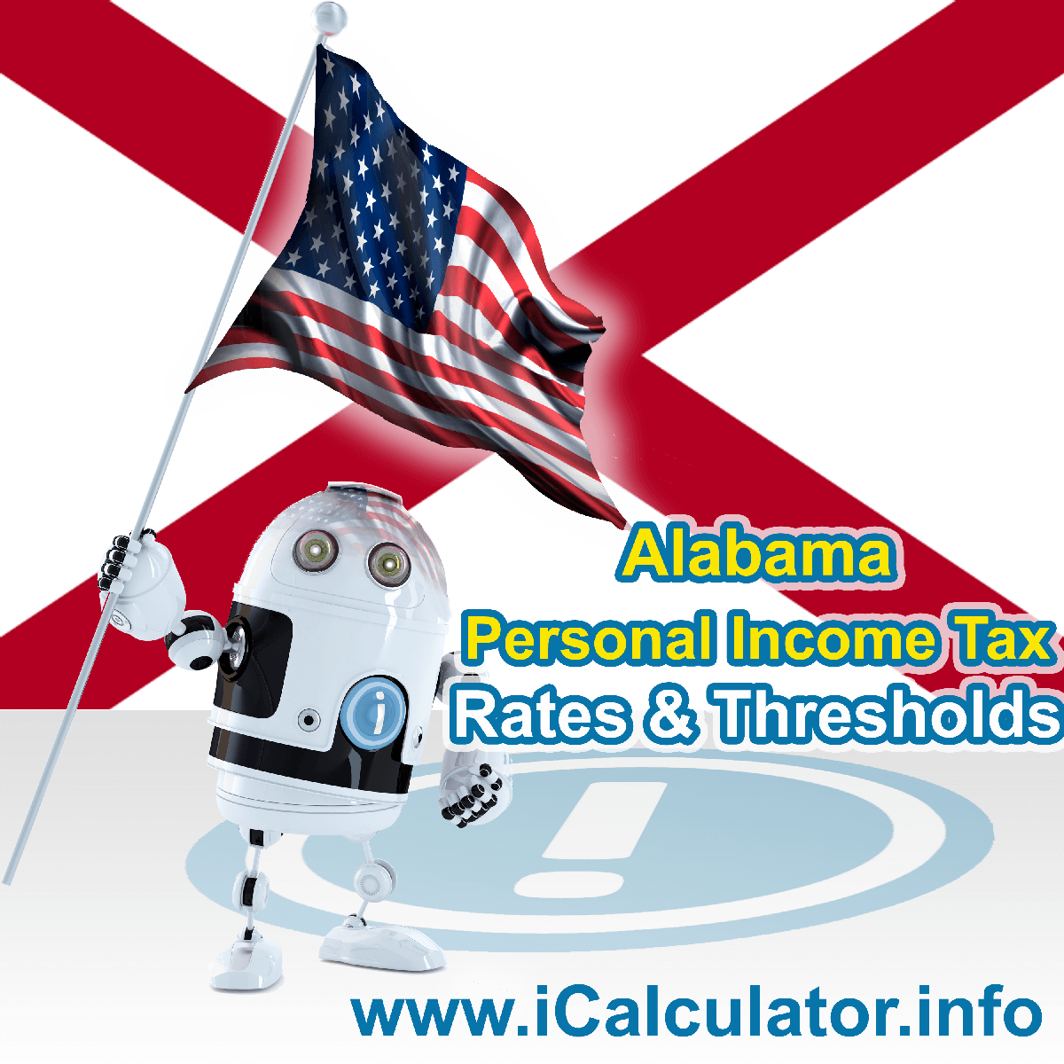 Alabama State Tax Tables 2016. This image displays details of the Alabama State Tax Tables for the 2016 tax return year which is provided in support of the 2016 US Tax Calculator