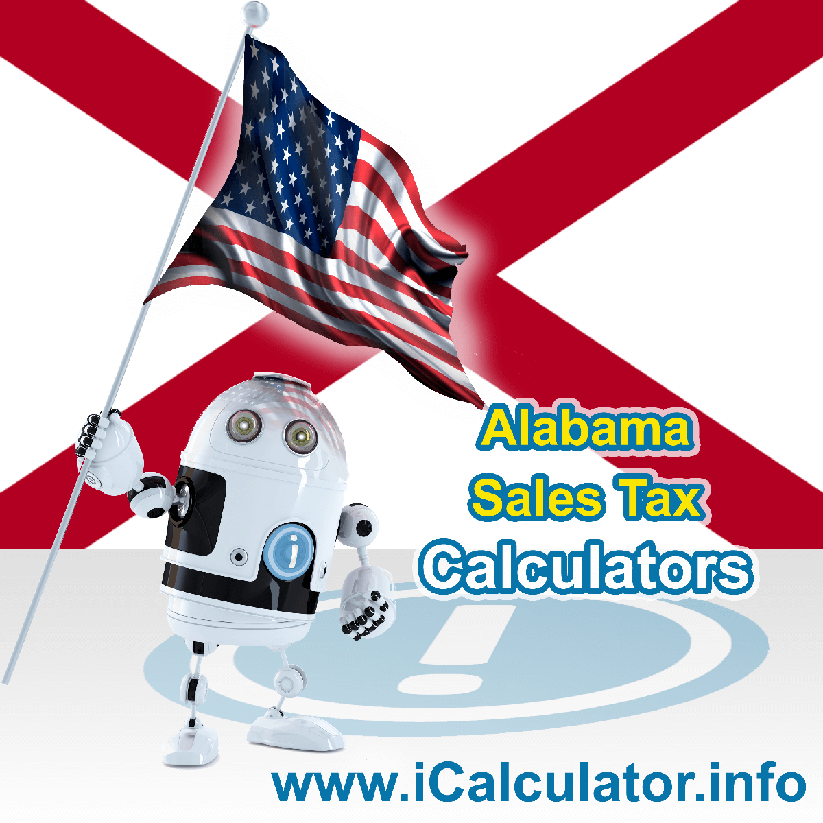 Piedmont Sales Rates: This image illustrates a calculator robot calculating Piedmont sales tax manually using the Piedmont Sales Tax Formula. You can use this information to calculate Piedmont Sales Tax manually or use the Piedmont Sales Tax Calculator to calculate sales tax online.