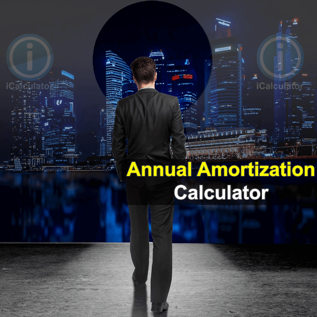 Annual Amortization Calculator. This image provides details of how to calculate annual amortization using a calculator and notepad. By using the annual amortization formula, the Annual Amortization Calculator provides a true calculation of the monthly repayments and the amount of interest from borrowing or investing using amortization formula on an annual basis