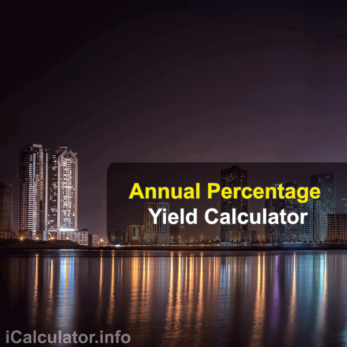Annual Percentage Yield Calculator. This image provides details of how to calculate Annual Percentage Yield using a calculator and notepad. By using the Annual Percentage Yield formula, the Annual Percentage Yield Calculator provides a true calculation of the amount of money that can be earned with compound interest, the APY will let us know the amount of money earned on the original deposit as well as the interest which is earned