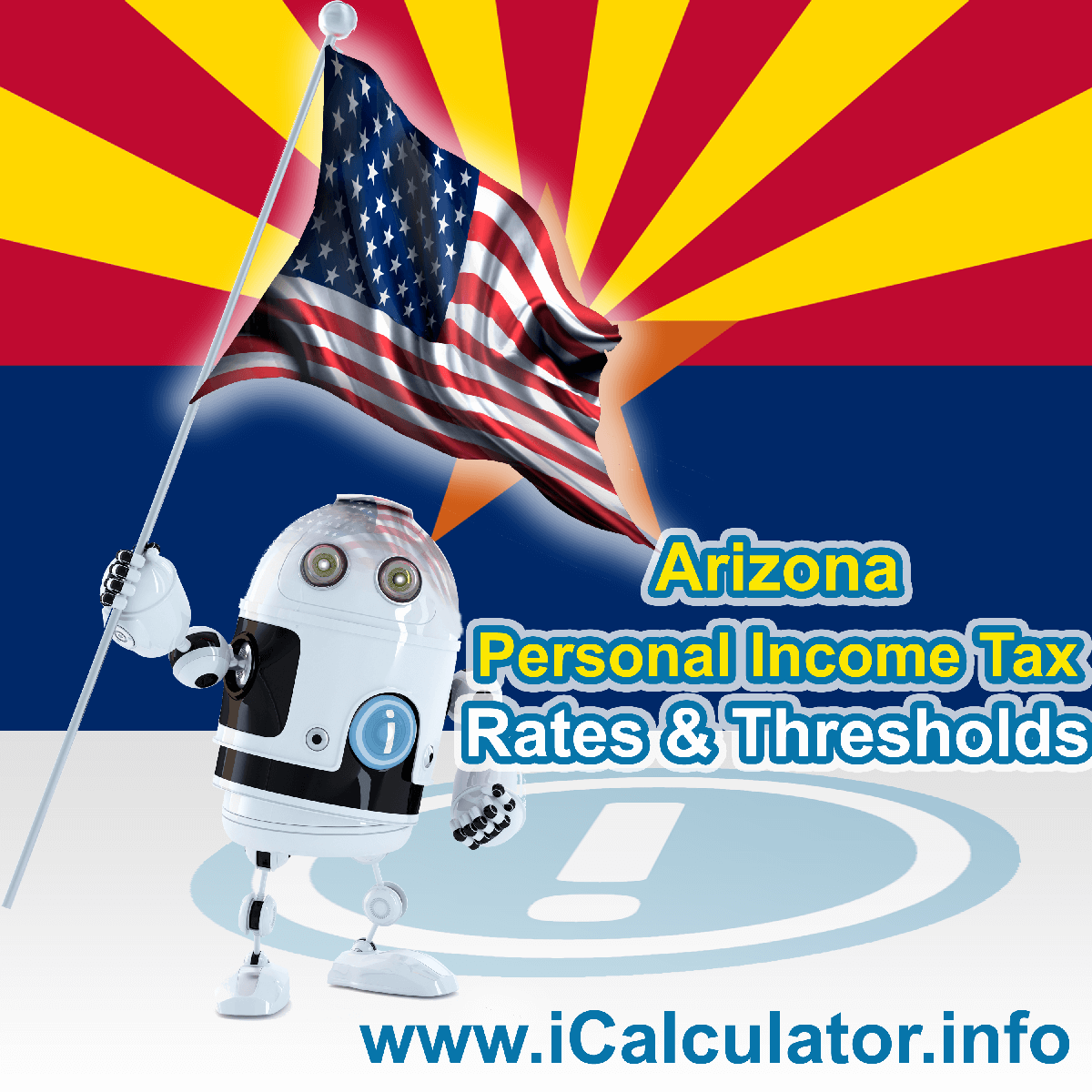 Arizona State Tax Tables 2014. This image displays details of the Arizona State Tax Tables for the 2014 tax return year which is provided in support of the 2014 US Tax Calculator