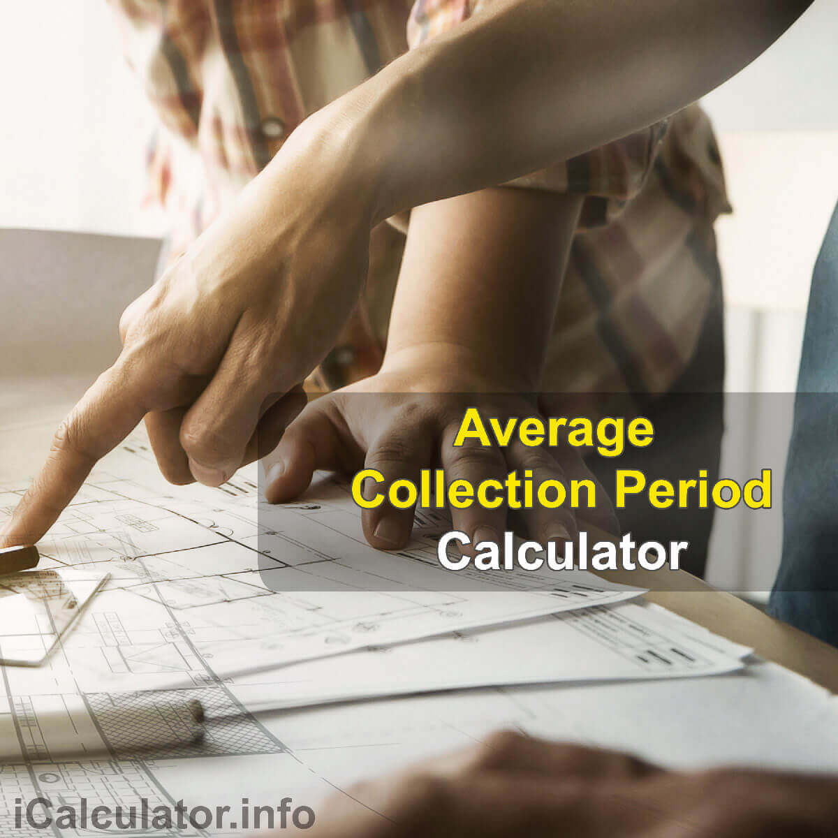 Average Collection Period Calculator. This image provides details of how to calculate the Average Collection Period Ratio using a calculator and notepad. By using the Average Collection Period Ratio formula, the ACP Calculator provides a true calculation of the amount of time a business takes to receive the funds from its customers after making the actual sale