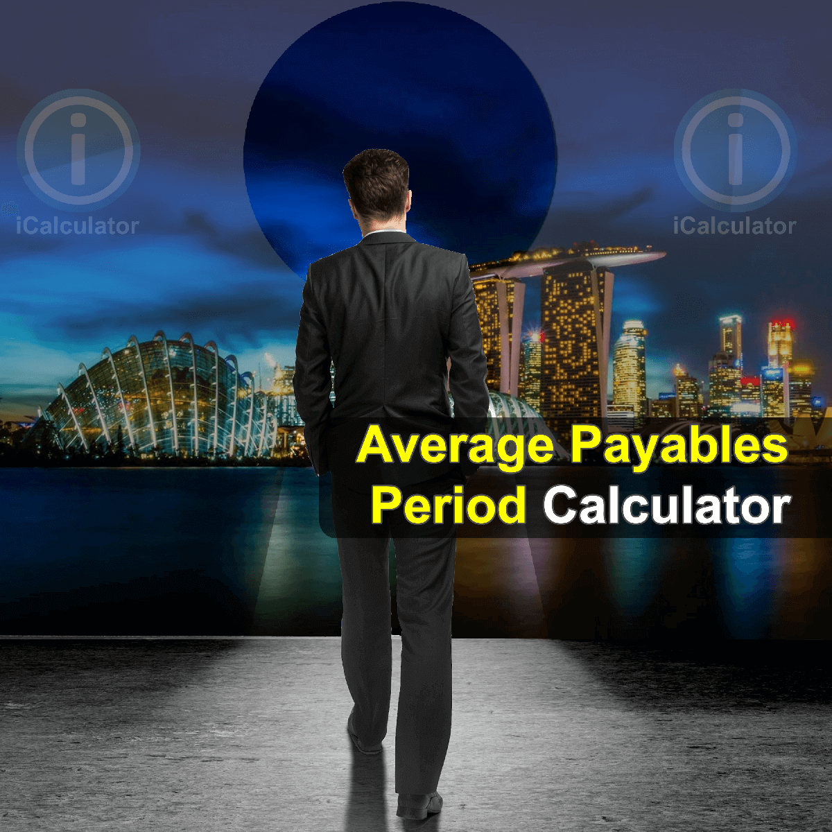 Average Payables Period Calculator. This image provides details of how to calculate the average payables period using a calculator and notepad. By using the Average Payables Period formula, the Average Payables Period Calculator provides a true calculation of the number of days your firm takes to pay off its suppliers and vendors