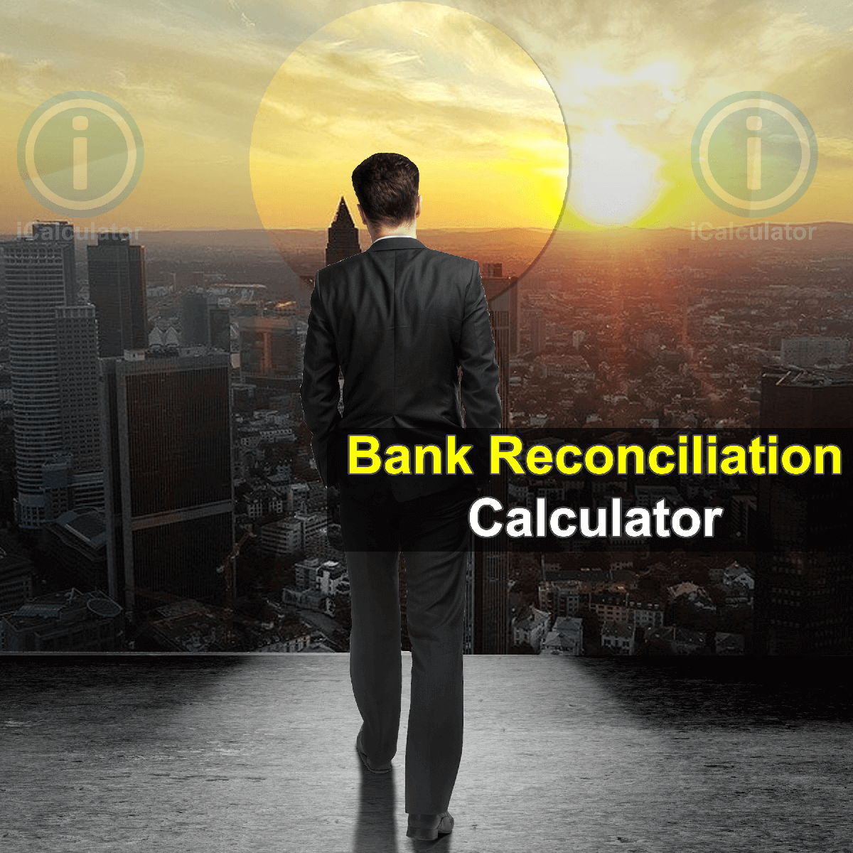 Bank Reconciliation Calculator: This image shows a company director calculating the reconciliation of accounts manually. The Bank Reconciliation Calculator allows you to explain the difference between the bank balance shown in a bank statement and the corresponding amount shown in your own accounting records.