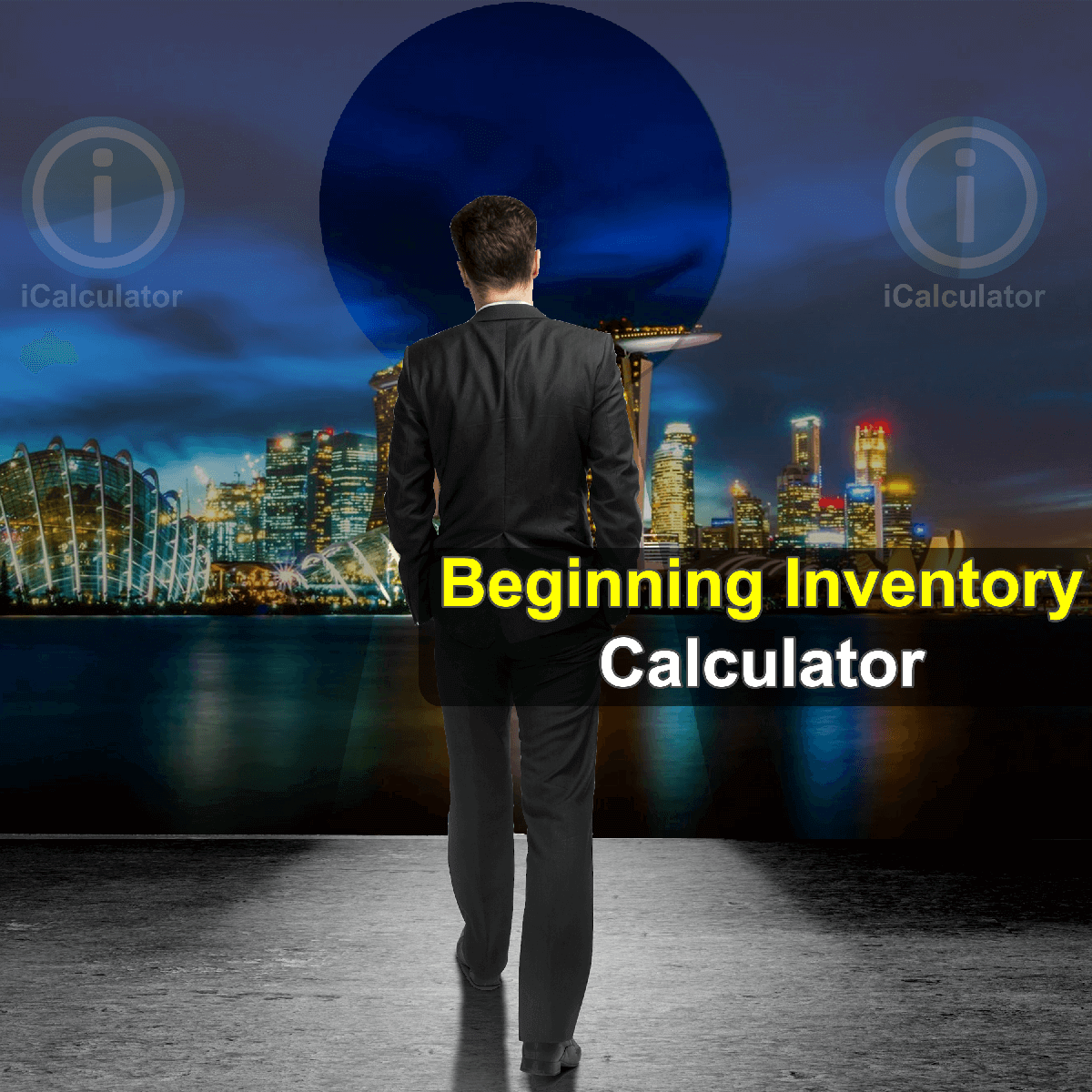 Beginning Inventory Calculator. This image provides details of how to calculate beginning inventory using a calculator and notepad. By using the Beginning Inventory formula, the Beginning Inventory Calculator provides a true calculation of the cash value of a company's inventory at the beginning of a new accounting period