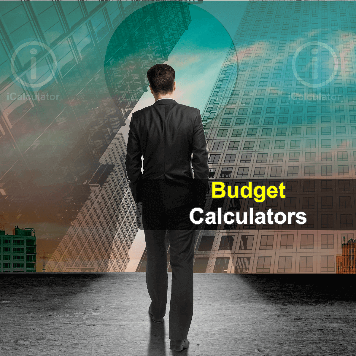 Budget Calculators. This image shows a student considering the merits of producing a budget to help plan their finances whilst at university using the budget calculators provided by iCalculator.