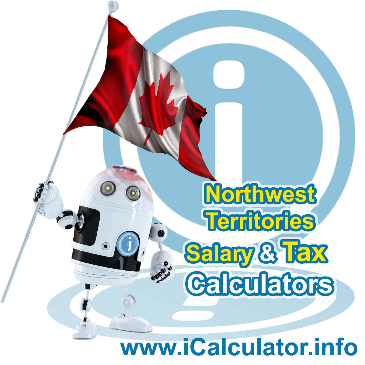 Northwest Territories 2020 Salary Comparison Calculator. This image shows the Northwest Territories flag and information relating to the tax formula used in the Northwest Territories 2020 Salary Comparison Calculator