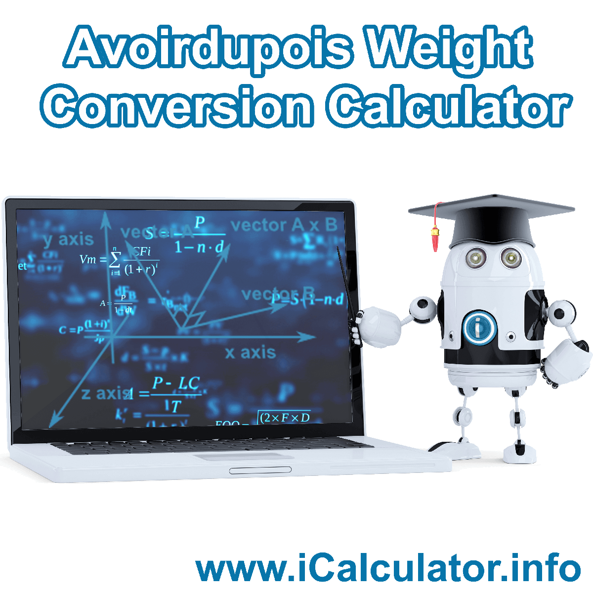 Avoirdupois Weight Conversion Calculator. This image shows Avoirdupois Weight Conversion with associated calculations used by the Avoirdupois Weight Conversion Calculator