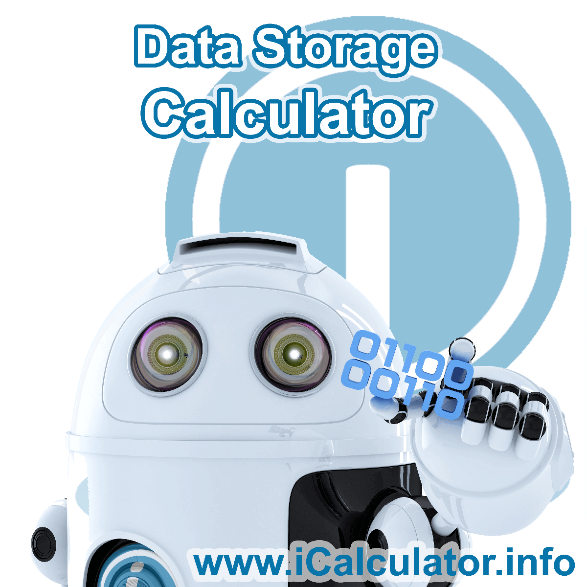Data Storage Conversion Calculator: This image shows Data Storage Conversion Formula with associated calculations used by the Data Storage Conversion Calculator