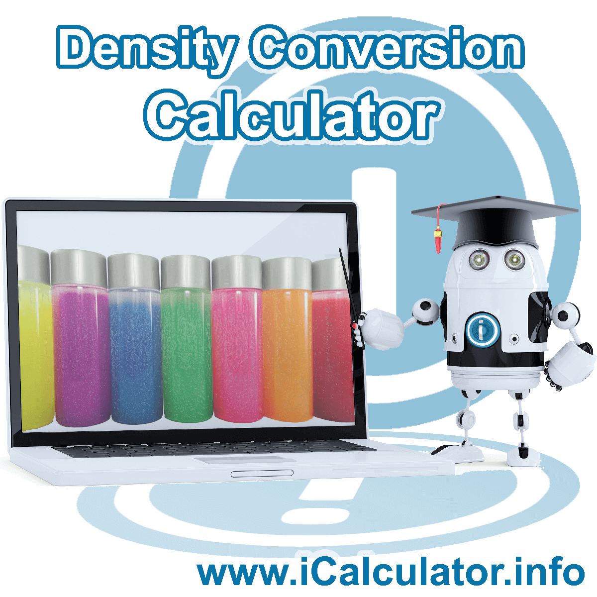 Density Calculator: This image shows Density Formula with associated calculations used by the Density Calculator