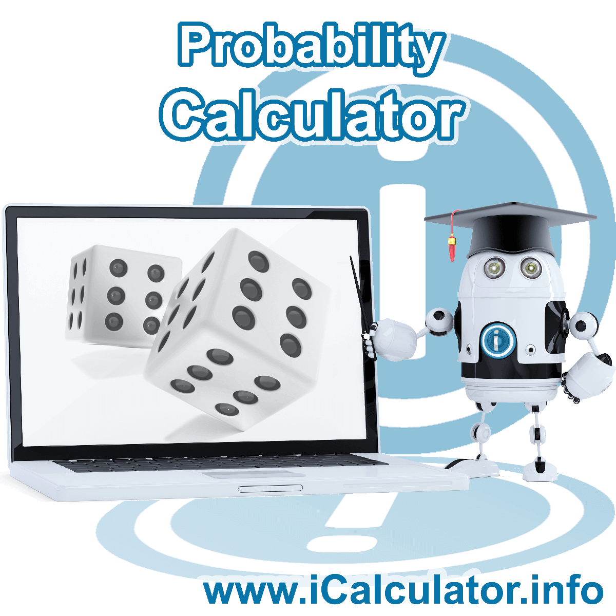 Probability Calculator: This image shows Probability formula and algorythms associated calculations used by the Probability Calculator