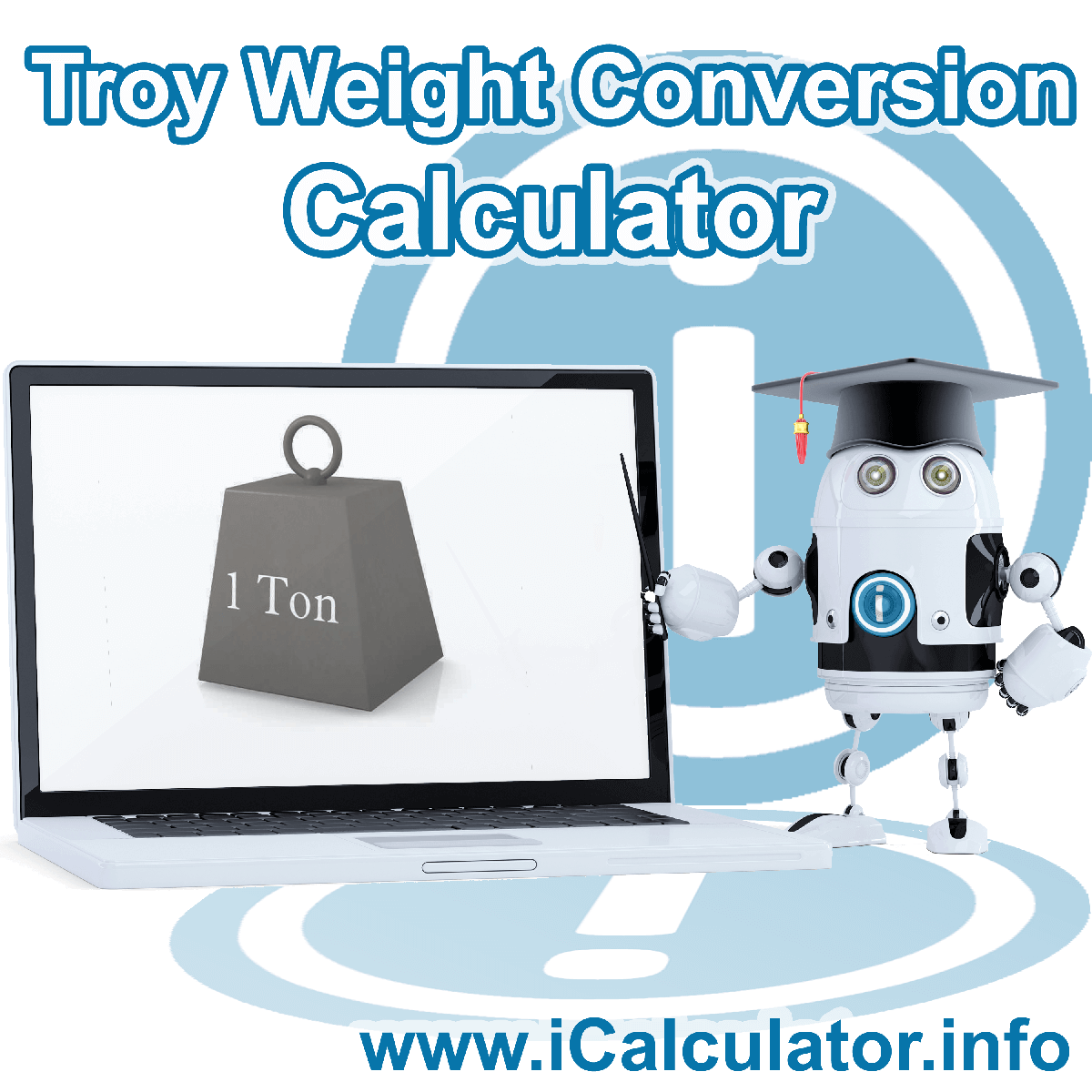 Troy Weight Conversion Calculator. This image shows Troy Weight Conversion formula with associated calculations used by the Troy Weight Conversion Calculator