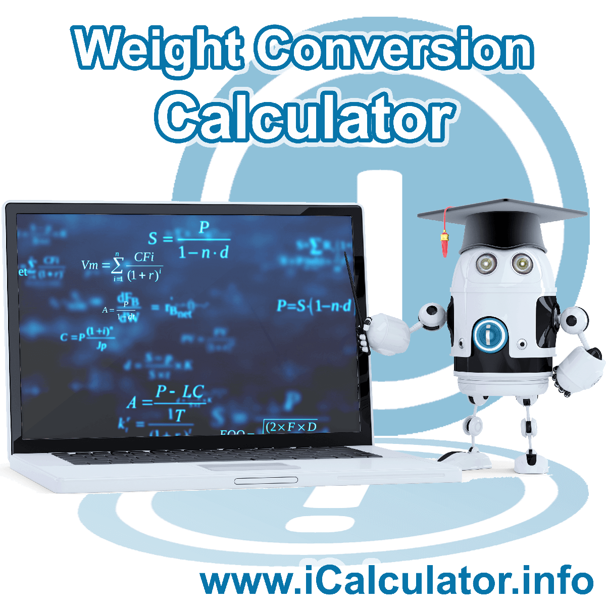 Weight Conversion Calculator: This image shows Weight Conversion formula and algorythms associated calculations used by the Weight Conversion Calculator