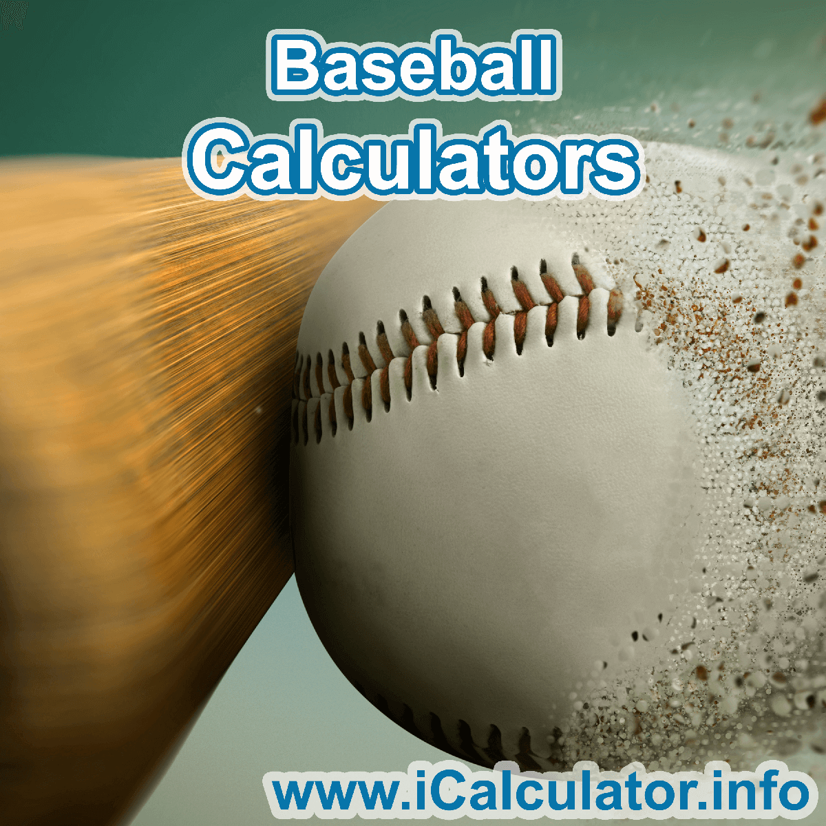 Baseball Calculator. This image shows an Baseball player playing baseball - by iCalculator