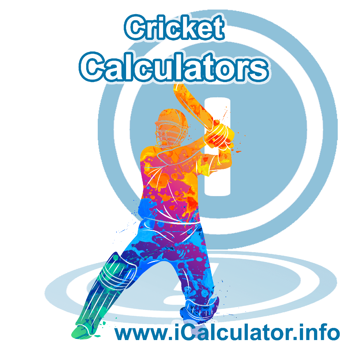 Cricket Calculator. This image shows an Cricket player playing cricket - by iCalculator