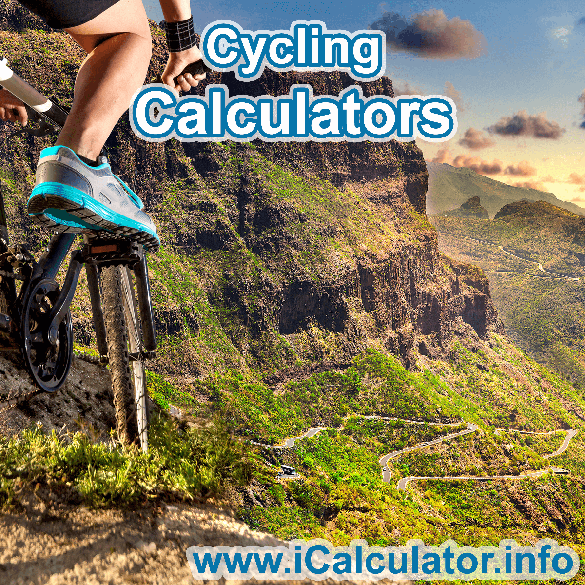 Cycling Calculator. This image shows an Cycling player playing cycling - by iCalculator