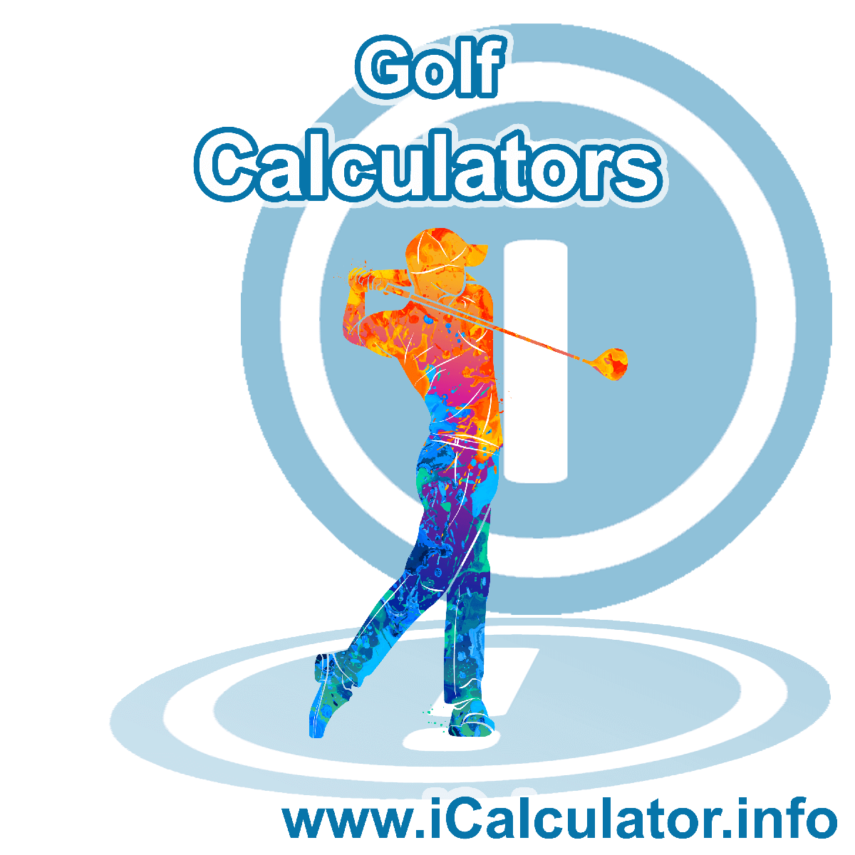 Golf Calculator. This image shows an Golf player playing golf - by iCalculator