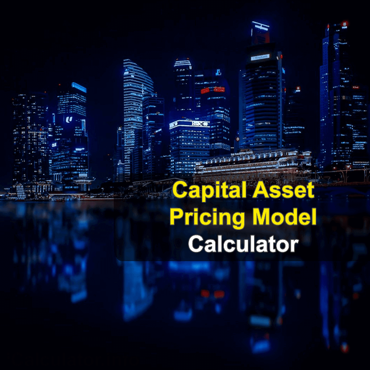 Capital Asset Pricing Model Calculator. This image provides details of how to calculate the break even point using a calculator and notepad. By using the capital asset pricing model formula, the CAPM Calculator provides a true calculation of the value of your investments while taking those risks into account.