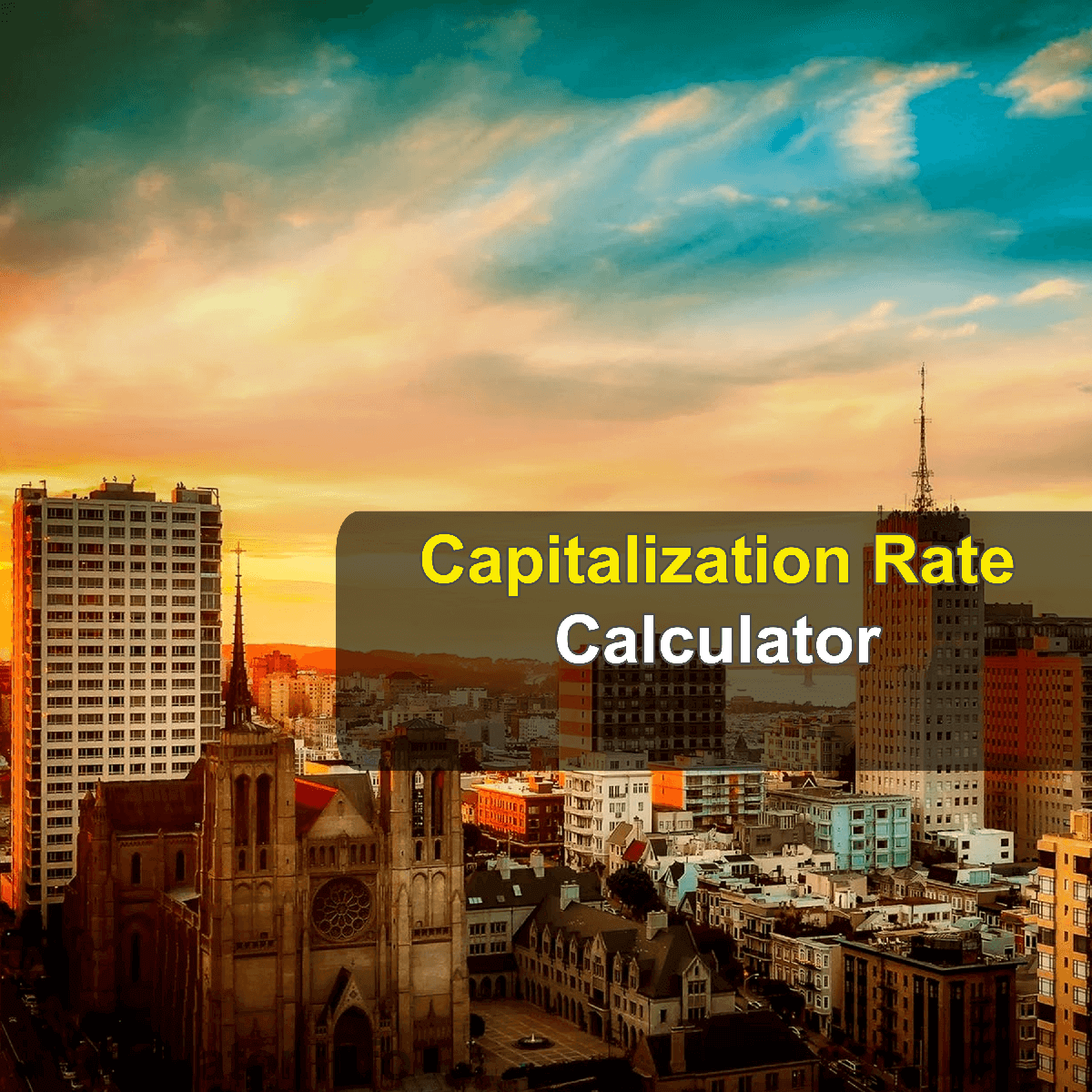 Capitalization Rate Calculator. This image provides details of how to calculate the capitalization rate using a calculator and notepad. By using the cap rate formula, the Cap Rate Calculator provides a true calculation of the profitability of real estate investments.