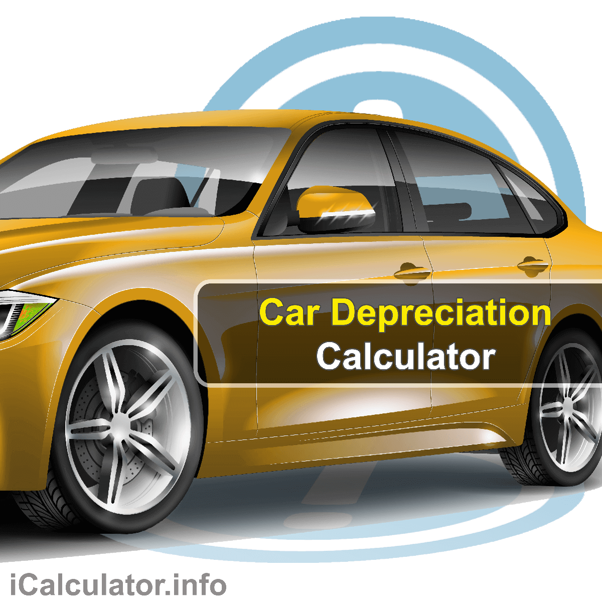 Car Depreciation Calculator. This image provides details of how to calculate depreciation costs of a car using a calculator and notepad. By using the car depreciation formula, the Car Depreciation Calculator provides a true calculation of the future value of a car when factoring in depreciation.