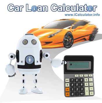 This image shows details about car loan calculations including car finance and loan formulas used to calculate car loan finance on the car loan Calculator and auto loan rate calculator