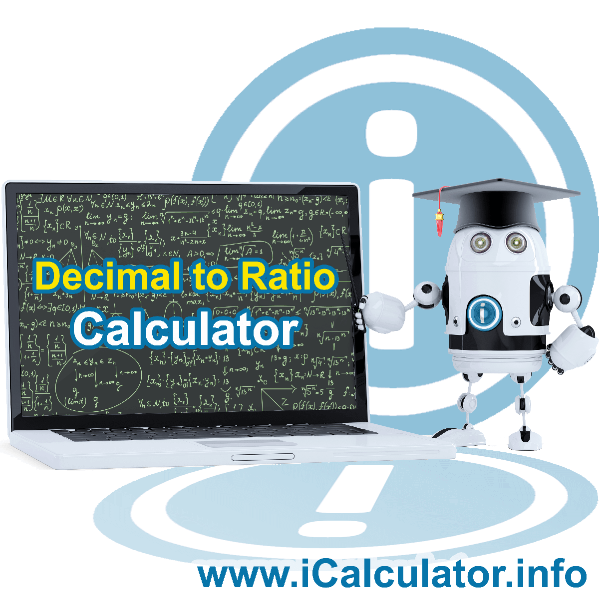 Decimal To Ratio. This image shows the properties and decimal to ratio formula for the Decimal To Ratio