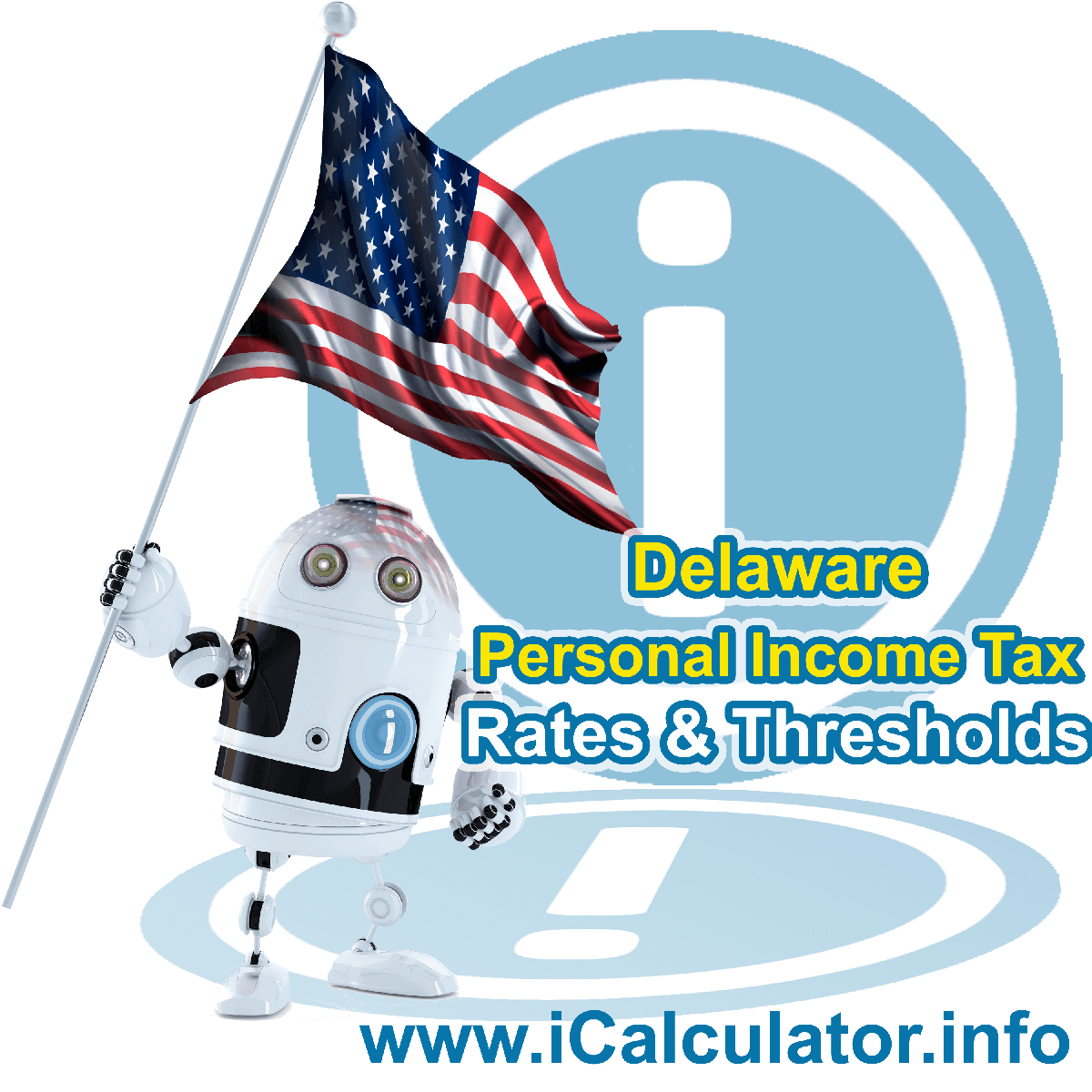 Delaware State Tax Tables 2014. This image displays details of the Delaware State Tax Tables for the 2014 tax return year which is provided in support of the 2014 US Tax Calculator