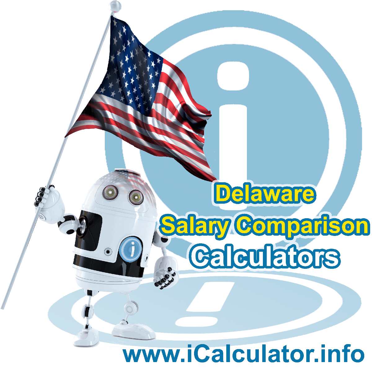 Delaware Salary Comparison Calculator 2020 | iCalculator | The Delaware Salary Comparison Calculator allows you to quickly calculate and compare upto 6 salaries in Delaware or between other states for the 2020 tax year and historical tax years. Its an excellent tool for jobseekers, pay raise comparison and comparison of salaries between different US States
