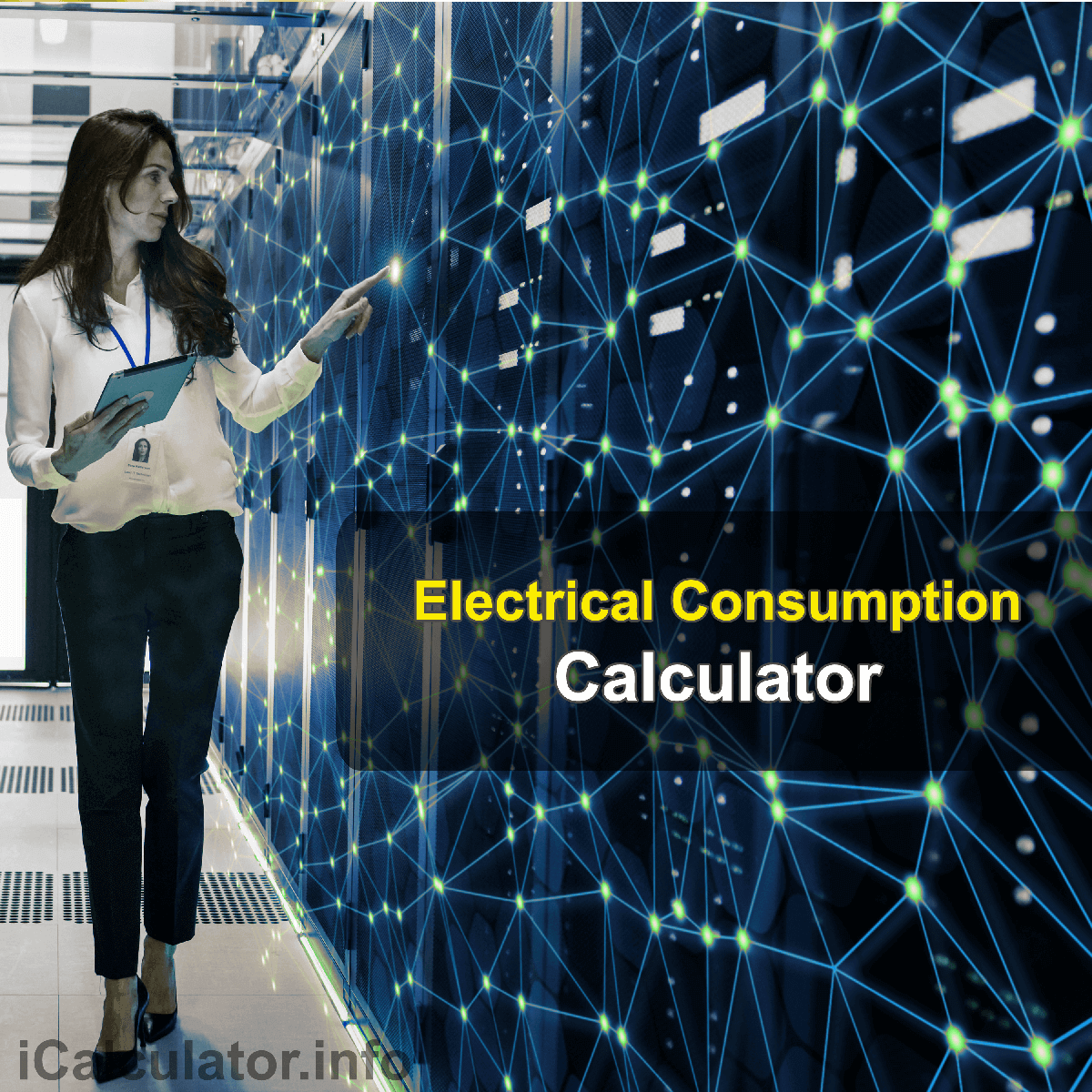 Household Electrical ConsumptionCalculator. This image provides details of how to calculate your household energy consumption using a good calculator, a pen and paper. By using the electrical energy consumption formula, the Household Electrical Consumption Calculator provides a comparison of the energy used by each of your appliances in your houselh along with the total annua costs to help you reduce your energy bills.