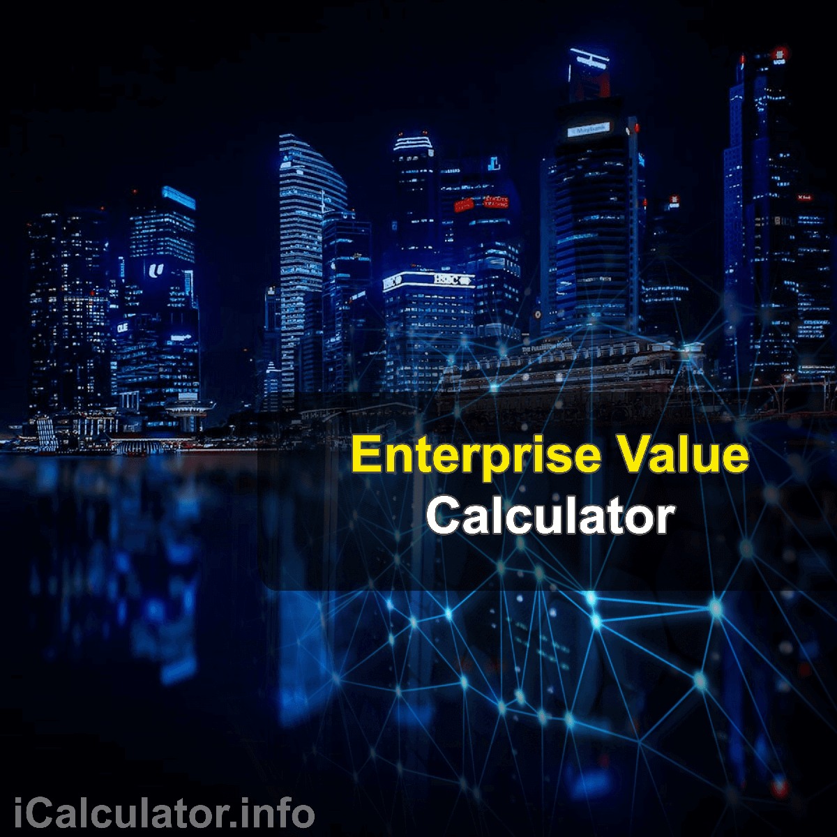 Enterprise Value Calculator. This image provides details of how to calculate enterprise value using a good calculator and notepad. By using the enterprise value formula, the Enterprise Value Calculator provides a true calculation of the value a company as a whole rather than just focusing on its current market capitalization. This shows a real value that gives a clearer picture of a company's worth to investors.