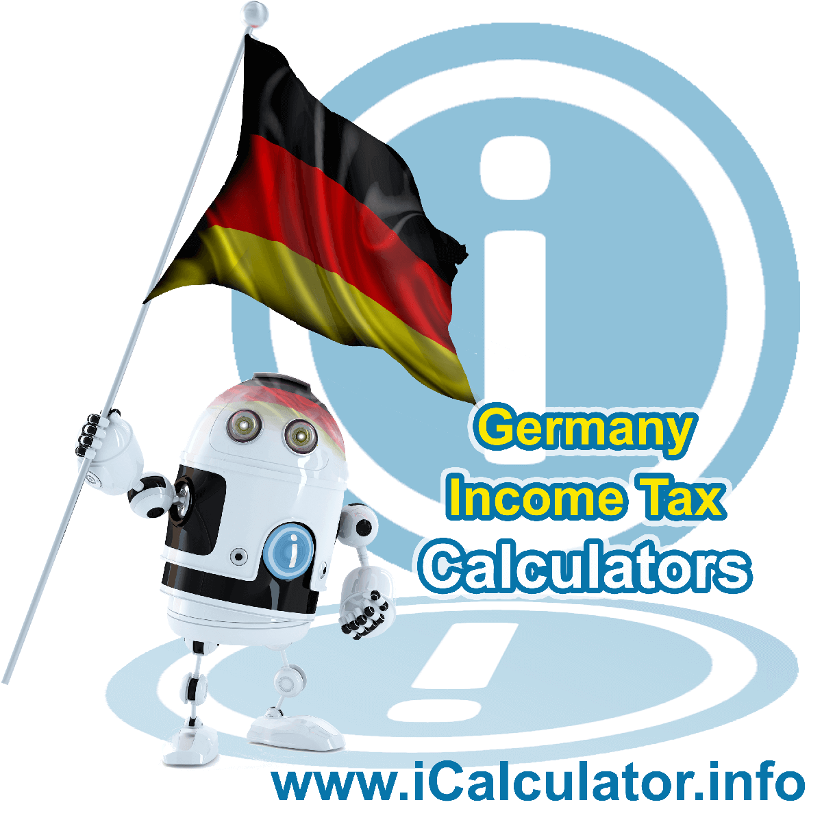 German IncomeTax Calculator. This image provides details of how to calculate income tax in Germany using a calculator and notepad. By using the tax rates and personal income tax formula, the German Tax Calculator provides a true calculation of the amount of taxes and other deductins including church tax, medical insurance, social security and other payroll related deductions in Germany