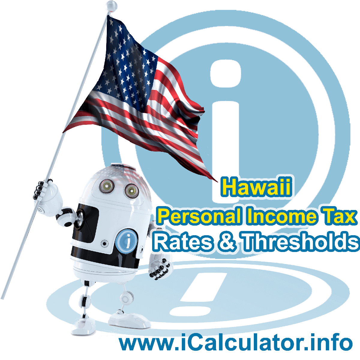 Hawaii State Tax Tables 2018. This image displays details of the Hawaii State Tax Tables for the 2018 tax return year which is provided in support of the 2018 US Tax Calculator