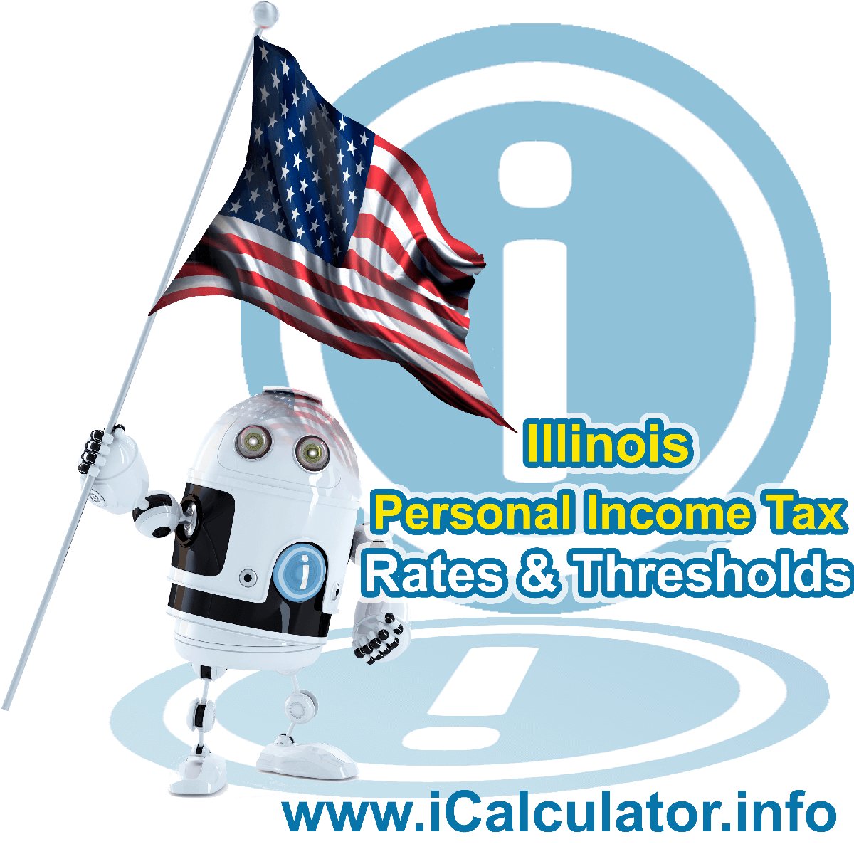 Illinois State Tax Tables 2018. This image displays details of the Illinois State Tax Tables for the 2018 tax return year which is provided in support of the 2018 US Tax Calculator