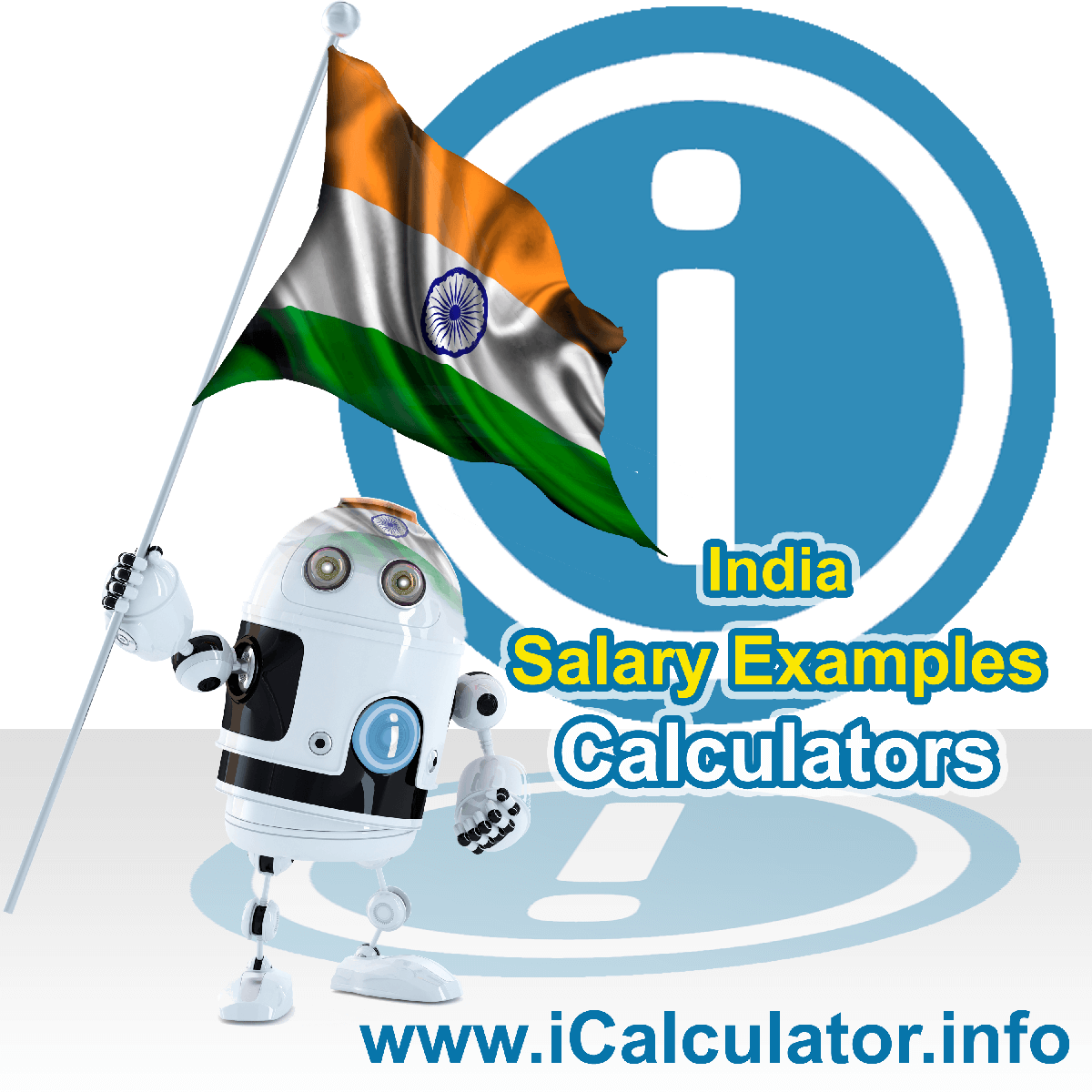 India Income Tax Example for ₹16,86,500.00 Salary. This image shows the flag of India and information relating to the tax formula for the India Income Tax Calculator used to create this payroll example for India