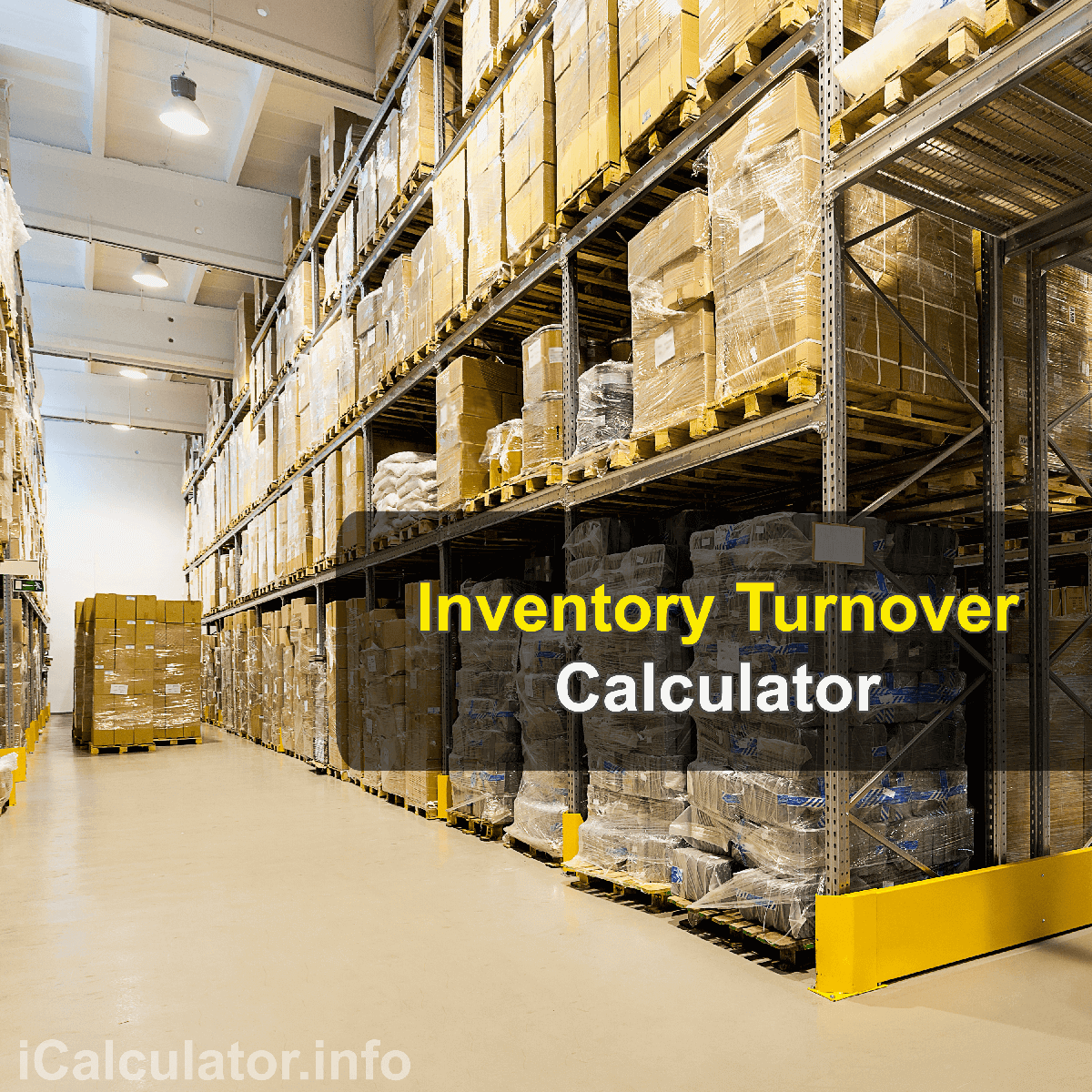 Inventory Turnover Calculator. This image provides details of how to calculate inventory turnover product using a good calculator and notepad. By using the either of the inventory turnover and inventory management formulas, the Inventory Turnover Calculator provides a true calculation of how many times you have sold your inventory in a defined period.