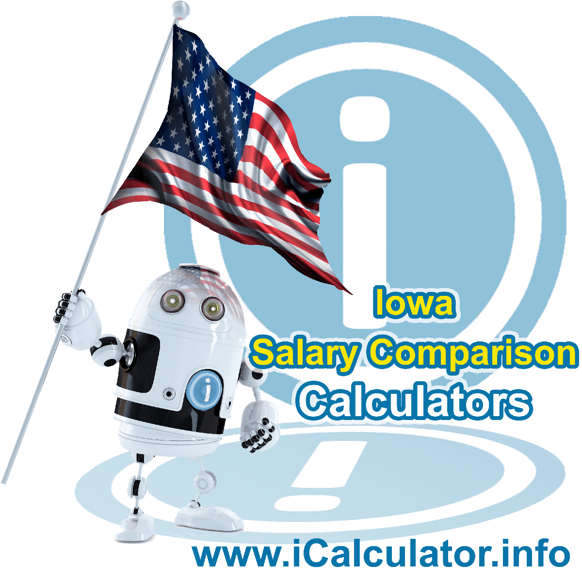 Iowa Salary Comparison Calculator 2020 | iCalculator | The Iowa Salary Comparison Calculator allows you to quickly calculate and compare upto 6 salaries in Iowa or between other states for the 2020 tax year and historical tax years. Its an excellent tool for jobseekers, pay raise comparison and comparison of salaries between different US States