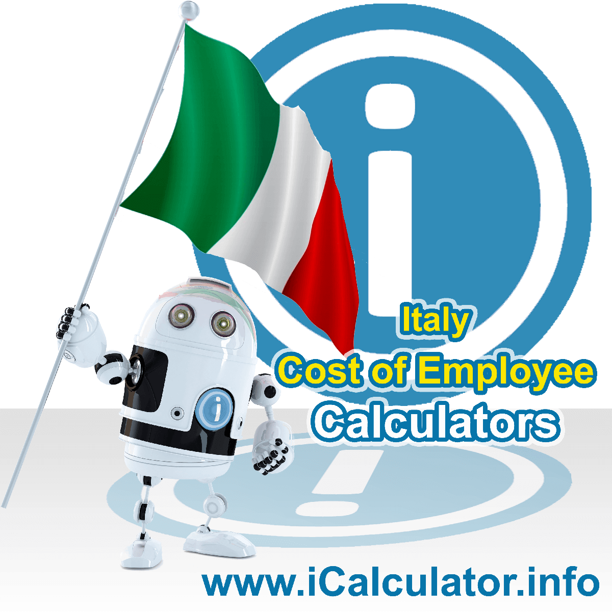 True Cost of an Employee in Italy Calculator. This image shows a new employer in Italy looking hiring a new employee, they calculate the cost of hiring an employee in Italy using the True Cost of an Employee in Italy calculator to understand their employment cost in Italy in 2019