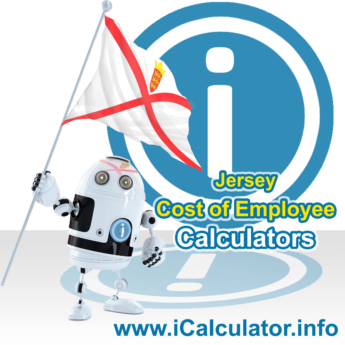 True Cost of an Employee in Jersey Calculator. This image shows a new employer in Jersey looking hiring a new employee, they calculate the cost of hiring an employee in Jersey using the True Cost of an Employee in Jersey calculator to understand their employment cost in Jersey in 2021