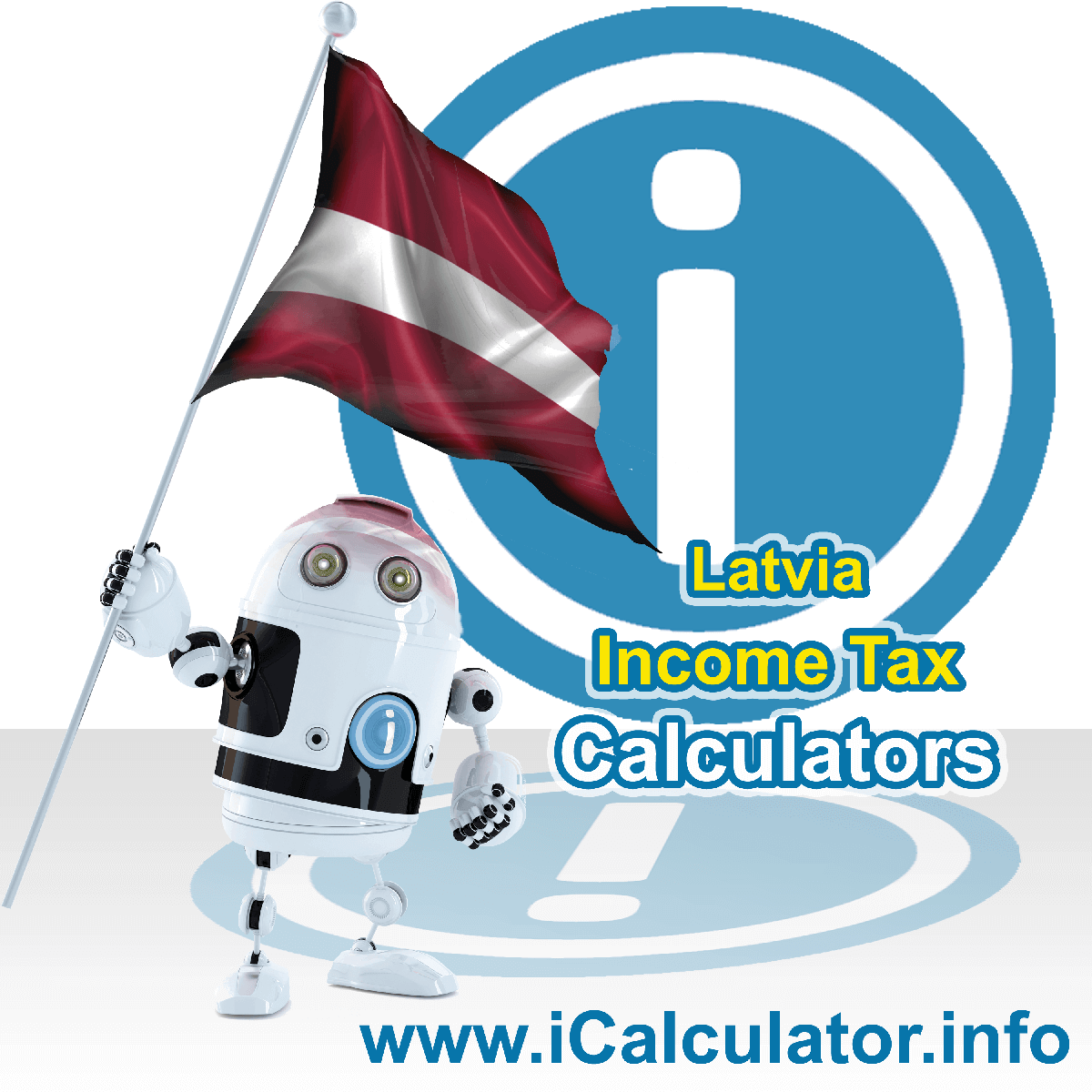 Latvia Income Tax Calculator. This image shows a new employer in Latvia calculating the annual payroll costs based on multiple payroll payments in one year in Latvia using the Latvia income tax calculator to understand their payroll costs in Latvia in 2021