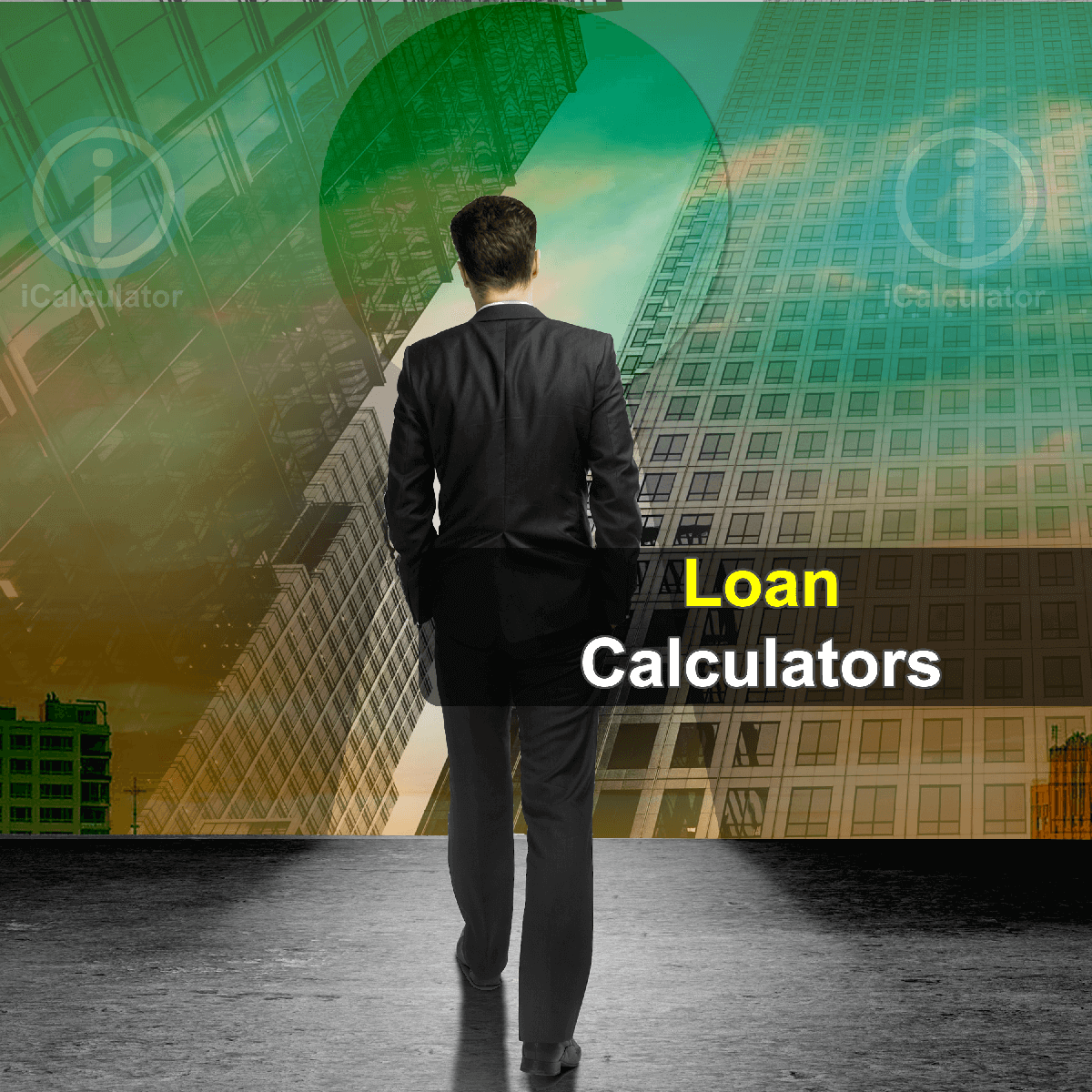 Loan Calculators. This image shows a student considering the merits of taking a loan to support their finances whilst at university using the loan calculators provided by iCalculator.