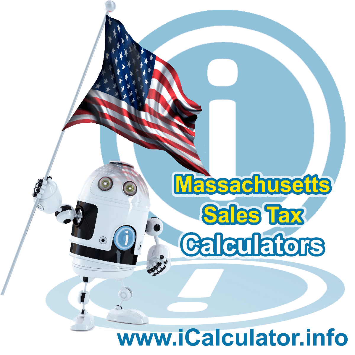 US Sales Tax Calculator: This image illustrates a calculator robot calculating sales tax in the United States manually using the United States Sales Tax Formula. You can use this information to calculate Sales Tax manually or use the United States Sales Tax Calculator to calculate sales tax online.