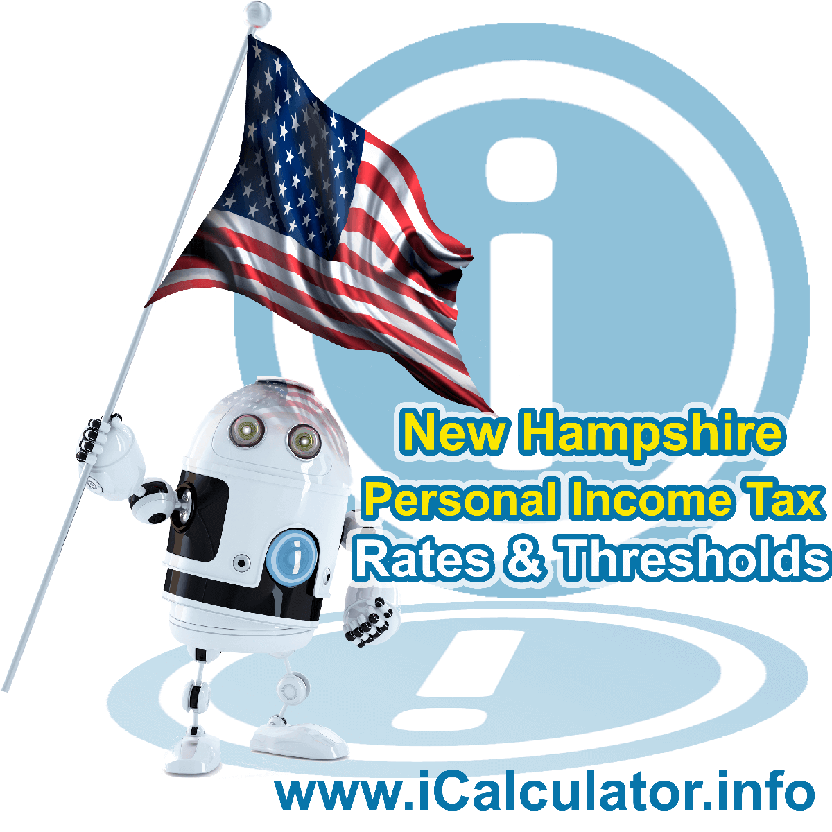 New Hampshire State Tax Tables 2016. This image displays details of the New Hampshire State Tax Tables for the 2016 tax return year which is provided in support of the 2016 US Tax Calculator