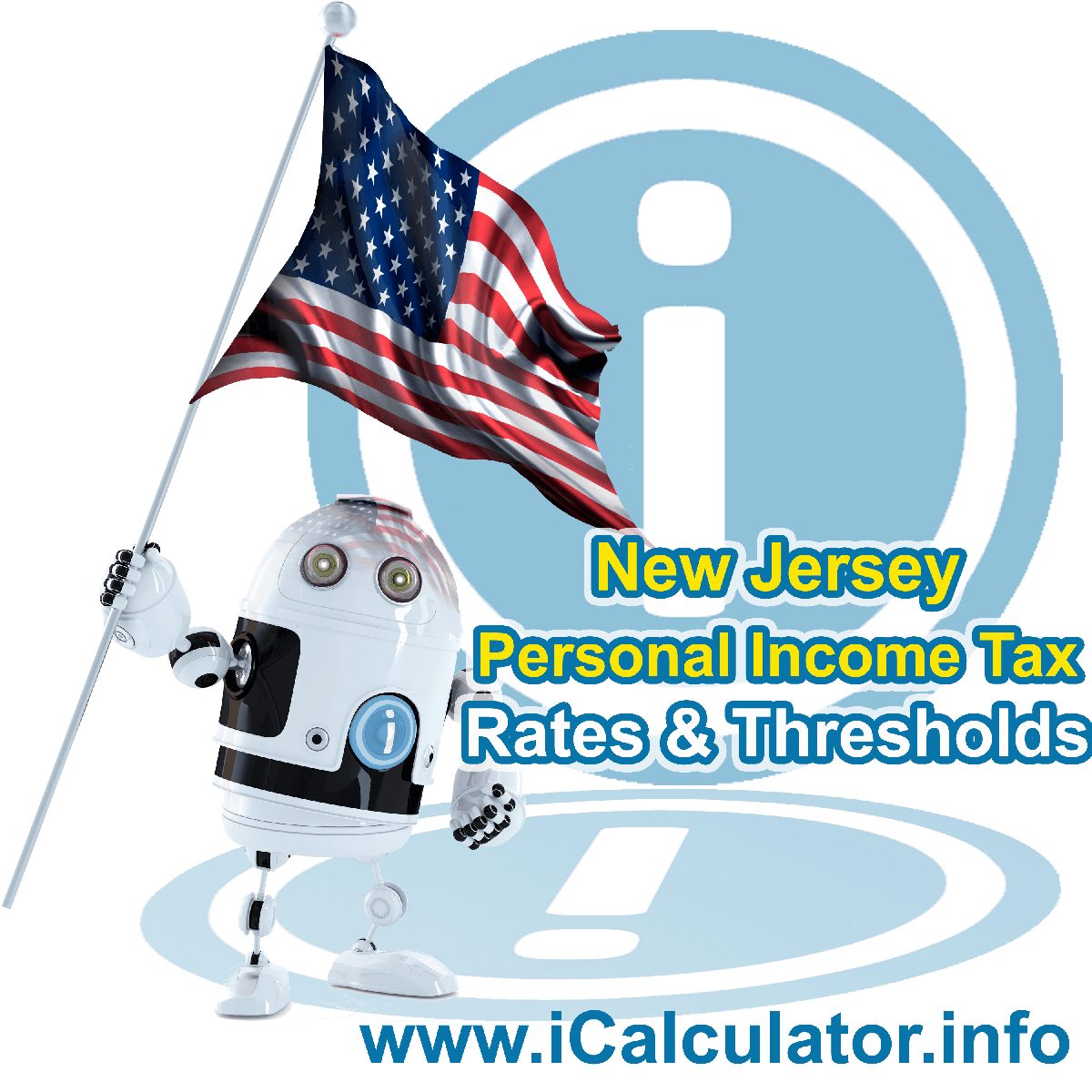 New Jersey State Tax Tables 2021. This image displays details of the New Jersey State Tax Tables for the 2021 tax return year which is provided in support of the 2021 US Tax Calculator