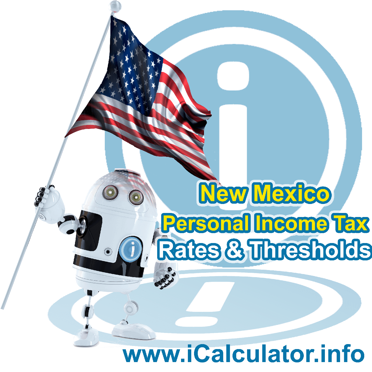 New Mexico State Tax Tables 2020. This image displays details of the New Mexico State Tax Tables for the 2020 tax return year which is provided in support of the 2020 US Tax Calculator
