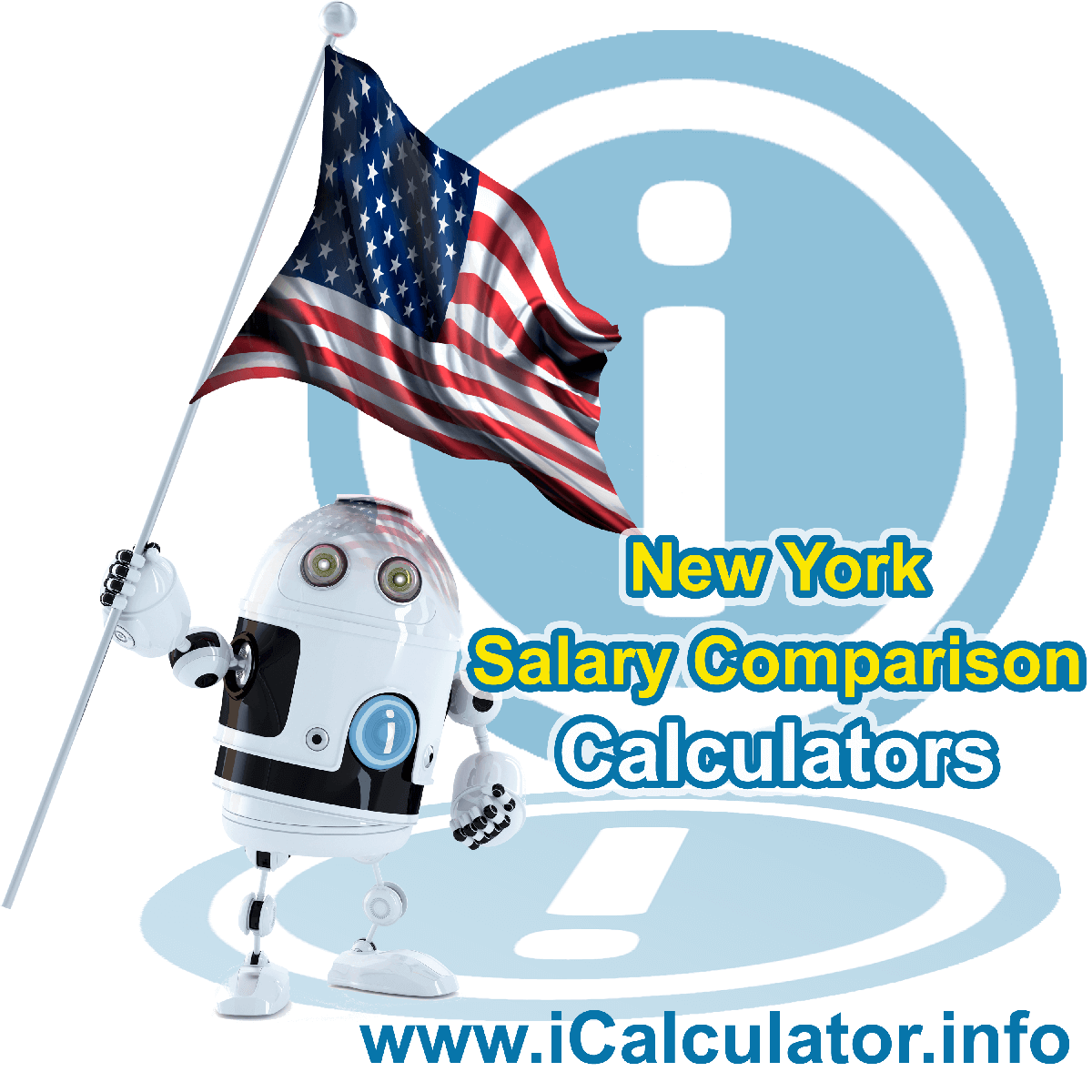 New York Salary Comparison Calculator 2019 | iCalculator | The New York Salary Comparison Calculator allows you to quickly calculate and compare upto 6 salaries in New York or between other states for the 2019 tax year and historical tax years. Its an excellent tool for jobseekers, pay raise comparison and comparison of salaries between different US States