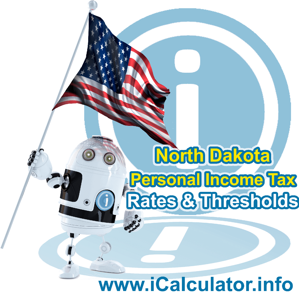 North Dakota State Tax Tables 2019. This image displays details of the North Dakota State Tax Tables for the 2019 tax return year which is provided in support of the 2019 US Tax Calculator
